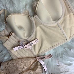 Victoria's Secret Intimates & Sleepwear - 34C Victoria's Secret Set Leather Bustier NWT
